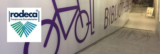 Rodeca Systems Almere binnenwand fietsenstalling Bibliotheek