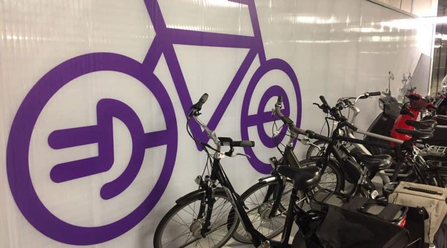 binnenwanden Almere fietsenstalling