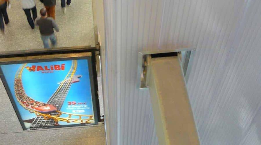 Brussel Eurostation gevelscherm binnenwanden landmarks