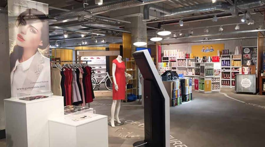 binnenwanden Store of the future
