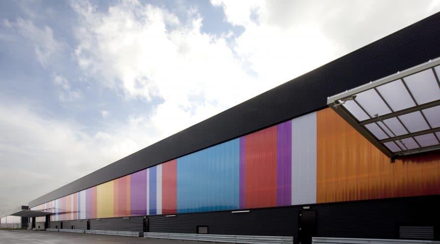 gekleurde panelen Schiphol EGL