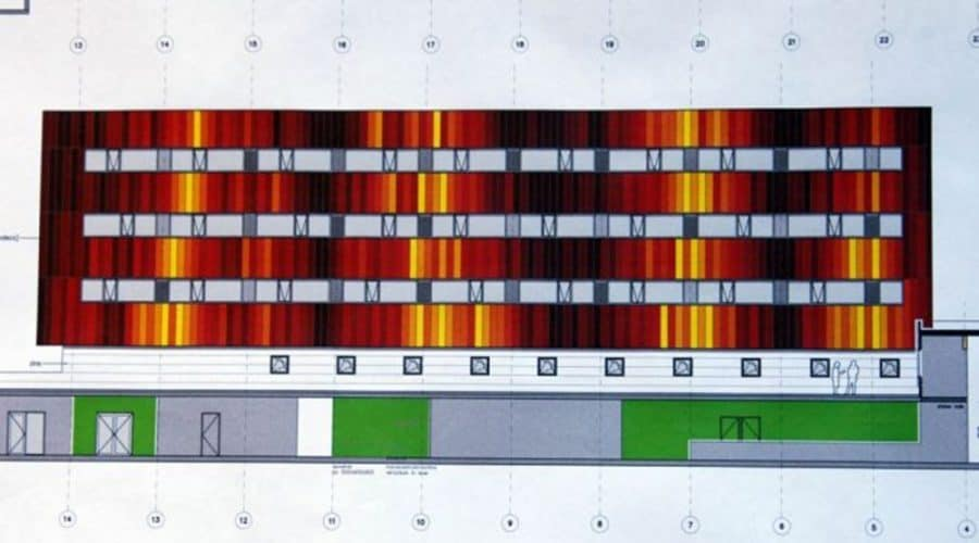 Terneuzen Operationele diensten gekleurde panelen gevelbekleding